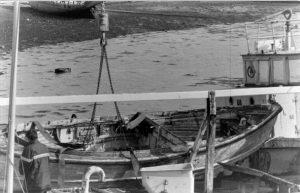 Le canot à bord de «l'Averse»